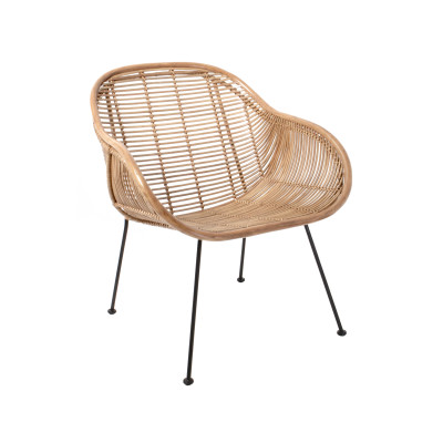 Rotan stoel naturel HK Living
