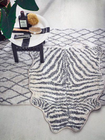 HK living badmat zebra print