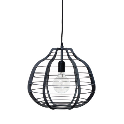 HK-living hanglamp XL lab lamp zwart