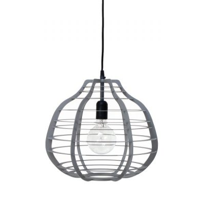 HK-living hanglamp XL lab lamp mat grijs