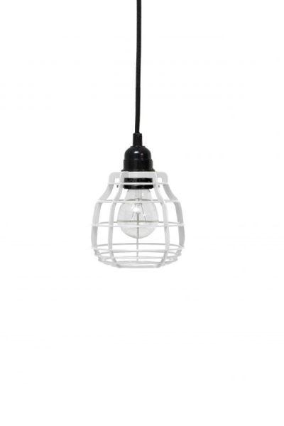 Lab lamp wit, hanglamp met plafondkapje of schakelaar met stekker