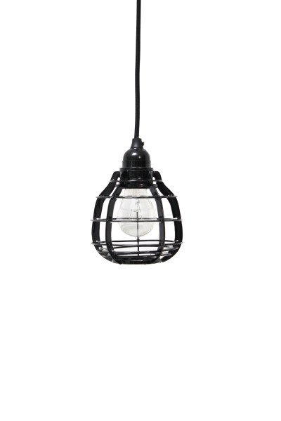Lab lamp zwart, hanglamp met plafondkapje of schakelaar met stekker