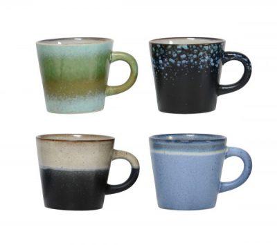 HK living keramieken 70's cappuccino mokken