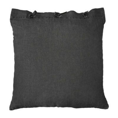 HK-living kussen linnen houtskool donker grijs 50×50 cm