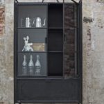 Steel storage vitrinekast