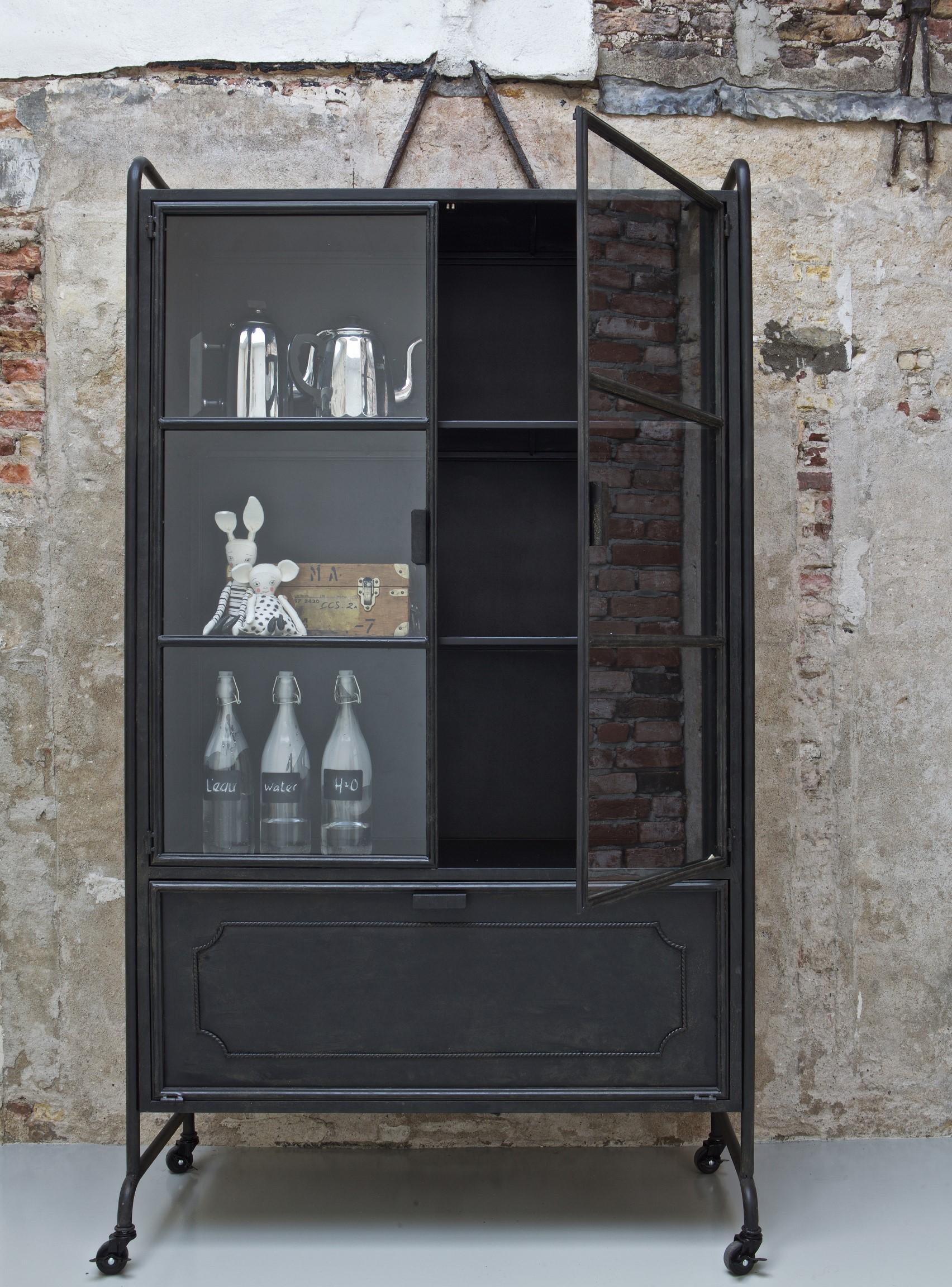 Steel storage vitrinekast Be Pure Home
