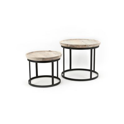 Coffee table set wood/metal By Boo
