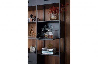 Legacy cabinet wood/iron black