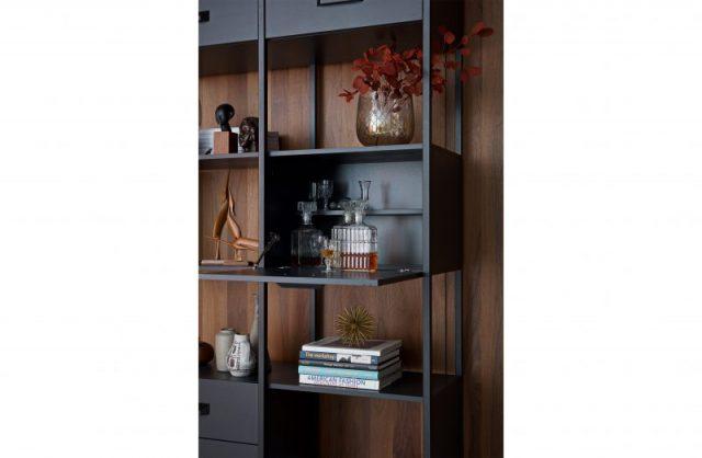 Legacy cabinet wood/iron black